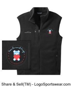 Eddie Bauer Adult Full Zip Fleece Vest Design Zoom